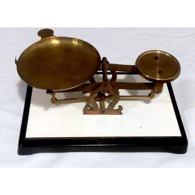 Image of Antique Brass Pharmacy Scale