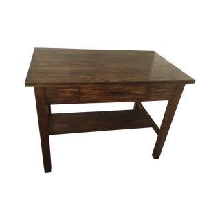 Mission Half-Sawn Oak Library Table