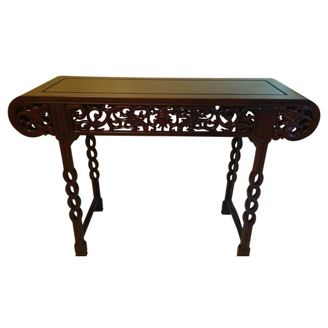 Hand Carved Console Table ~ Antique hand carved chinese altar console table chairish