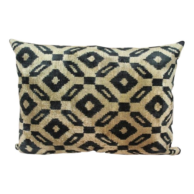 Handmade Silk Ikat Velvet Pillow Chairish