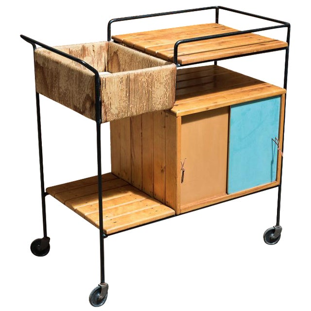 Vintage Arthur Umanoff Rolling Bar Cart - Image 1 of 11