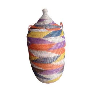 Multi-Color Straw Basket
