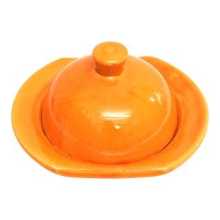 Hand Painted Orange Moroccan Ceramic Serving Dish
