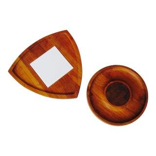 Dansk Modern Cutting Board & Serving Tray- Set of 2