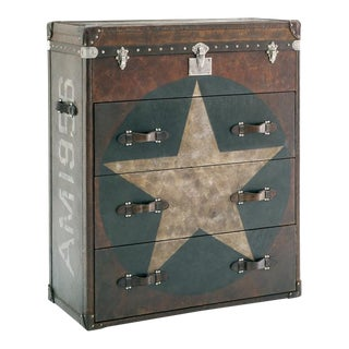 Andrew Martin Star Leather Chest of Drawers