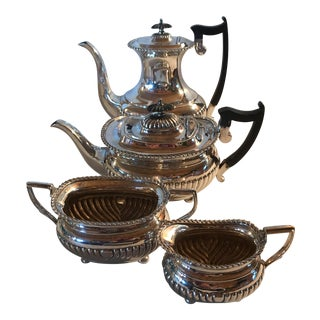 Sheffield Plate Footed & Fluted Coffee Set - Set of 4