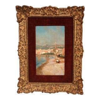 19th Century Italian Oil Paintings in Original Frames Signed G. Battista - A Pair