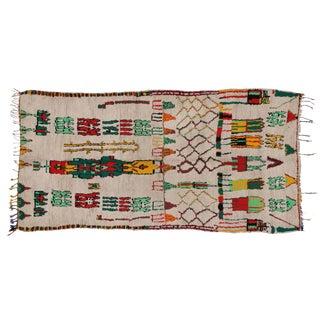 Vintage Moroccan Azilal Rug - 5′1″ × 10′4″