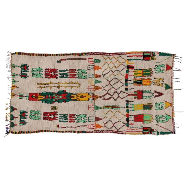 Vintage Moroccan Azilal Rug - 5′1″ × 10′4″ - Image 1 of 3