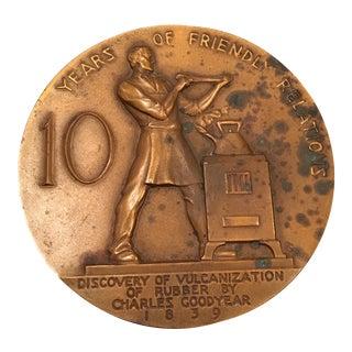 Ny Artist Rene P. Chambellan Bronze Medallion