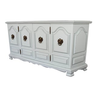 Mint Gray Glaze Sideboard