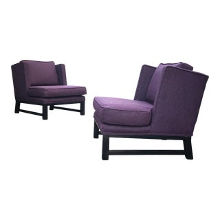 Lounge Chairs in Maharam Wool - A Pair