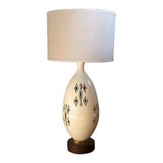 Vintage Ivory Ceramic Lamp