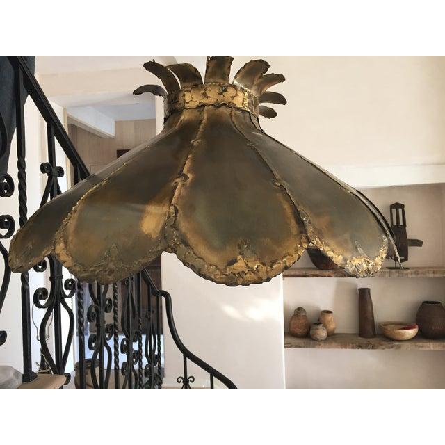Image of Vintage Brutalist Pendant Light