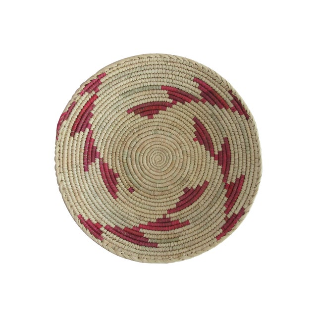 Decorative Pink Navajo Basket - Image 1 of 3