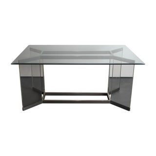 Leon Rosen for Pace Lucite & Chrome Dining Table