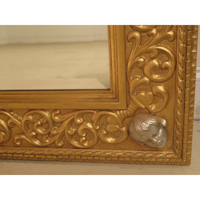 Friedman Brothers Custom Mirror With Cherub Heads - Image 8 of 11