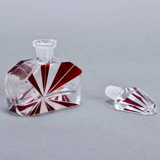 Image of Art Deco Red Perfume Bottle