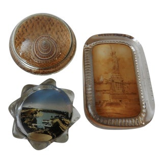 Vintage Paper Weight Collection - Set of 3