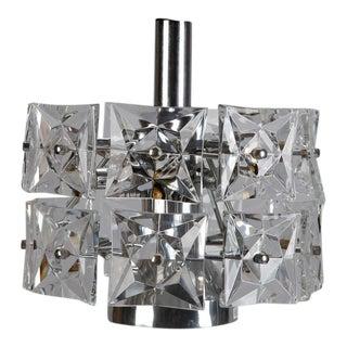 Kinkeldey Crystal Fixture with Chrome and Nickel Base