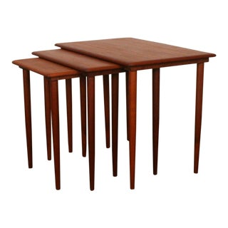 Vintage Danish Teak Nesting Table - Set of 3