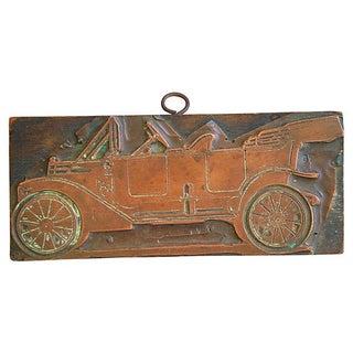 Antique French Automobile Printer's Copper Plate