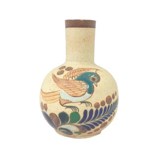 Mexican Tonala Ceramic Bird Vase