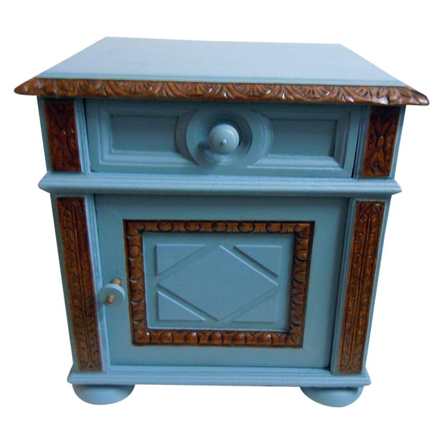 Blue Painted Mid-Century Nightstand - Image 9 of 9