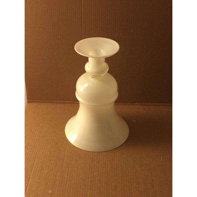 Large White Glass Urn - Image 5 of 8