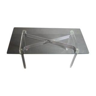 Charles Hollis Jones Lucite & Chrome Table Desk