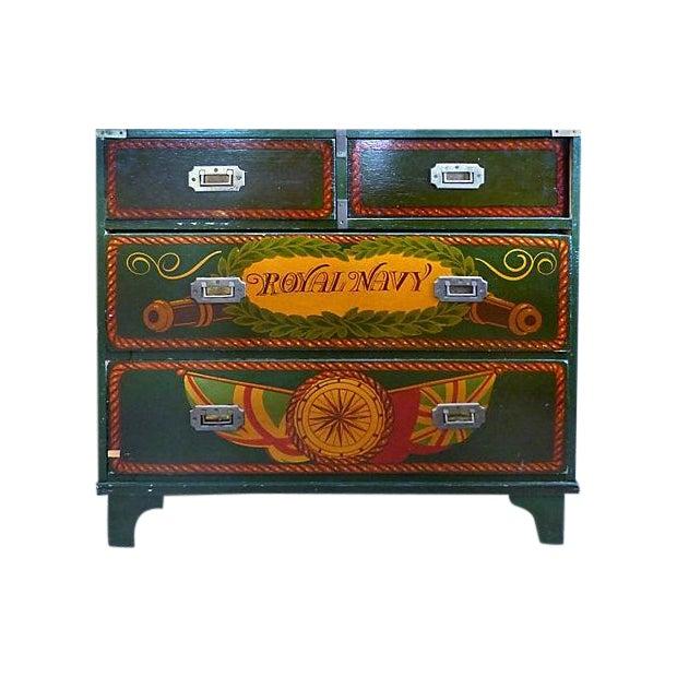 Painted Nautical Theme Dresser - Image 1 of 10