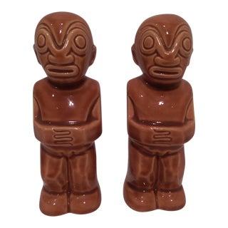 Vintage Kon Tiki Hawaiian Salt & Pepper Shakers - A Pair