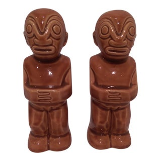 Vintage Kon Tiki Hawaiian Salt & Pepper Shakers - A Pair