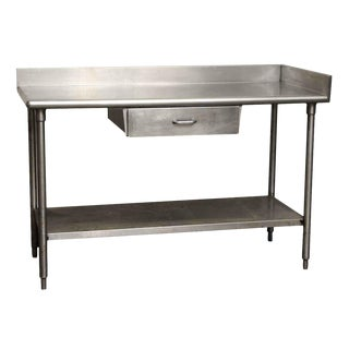 Single Drawer Industrial Steel Table