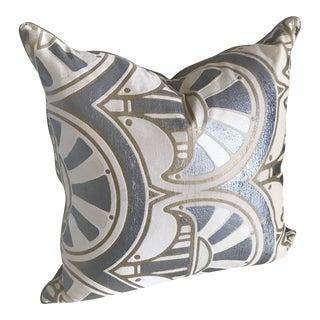 Mid-Century Modern Jack Lenor Larsen Hand Blocked Pillow