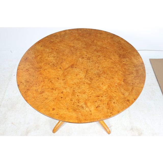 Burl Wood Tilt Top Table - Image 4 of 5