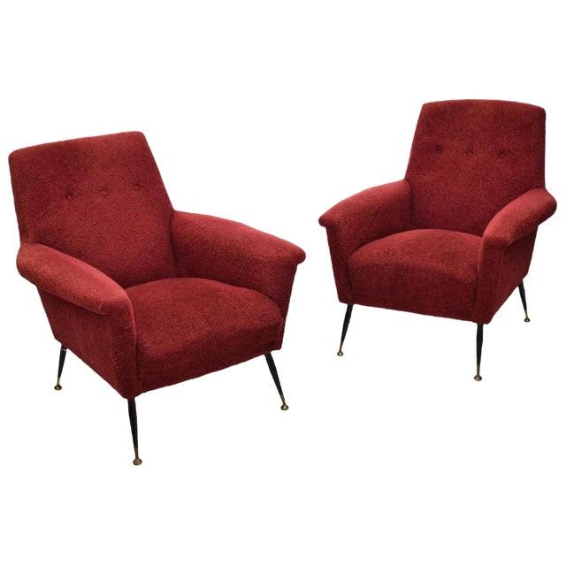Italian Mid-Century Modern Armchairs - a Pair - Image 1 of 4