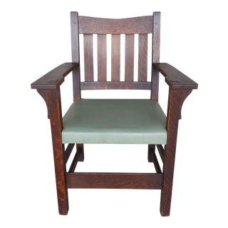 Gustav Stickley Mission Oak Arts & Crafts Armchair