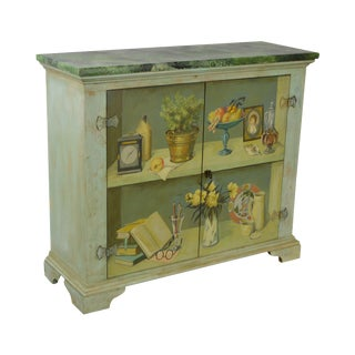 Sarreid LTD Hand Painted 2 Door Console Cabinet