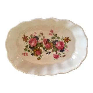 """Garden of Roses"" Fine Bone China Soap Dish"