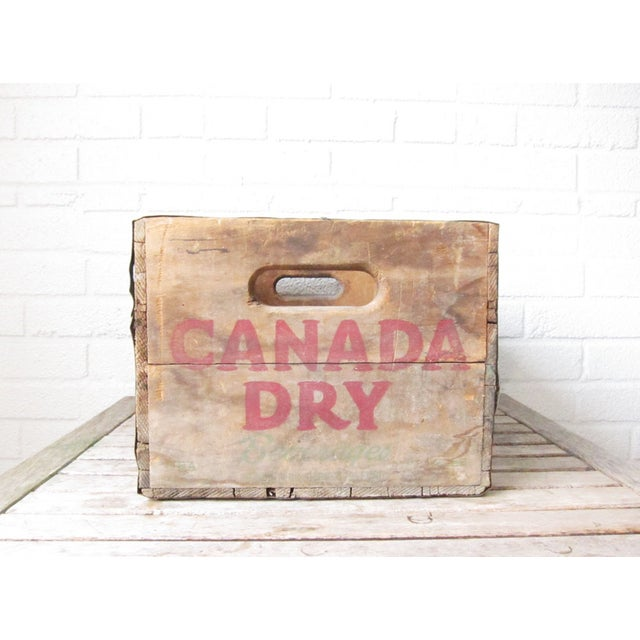 Vintage Canada Dry Crate - Rustic Wood Box - Image 5 of 5