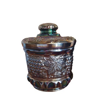 Fenton Art Glass Favrene Tobacco Jar