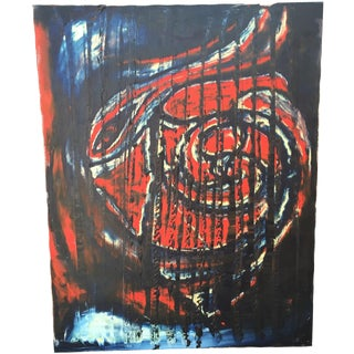 Abstract Expressionist Oil on Canvas