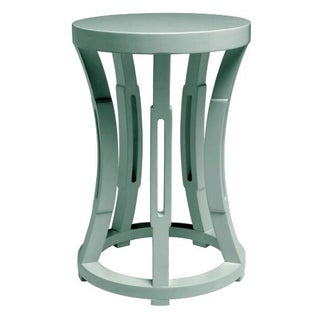 Light Blue Hourglass Stool or Side Table
