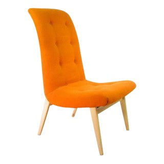 Norman Bel Geddes Mid-Century Modern Orange Side Chair