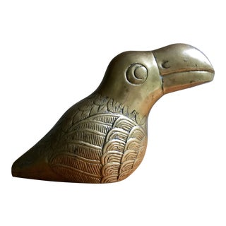 Brass Toucan / Parrot Figurine