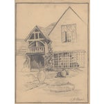 Image of A. Revel 1920's Tudor Estate Drawing