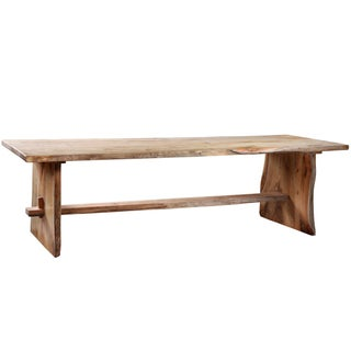 Solid Teak Live Edge Dining Table