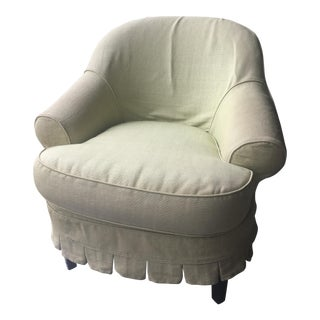 Upholstered Chair in Light Green