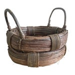 Image of Rustic Wicker Basket, Vintage Holiday Decor